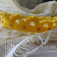 Crown, handmade lace