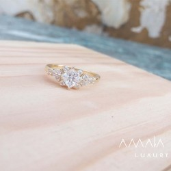 Wedding rings of lemon gold