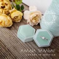 Velvet wedding ring