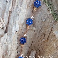 Traditional bride bracelet with blue stones
