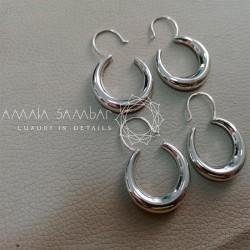 Ukrainian traditional crescent earrings