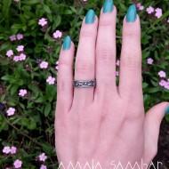 Wedding rings with diamond texture