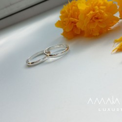 Wedding rings classic made of white gold