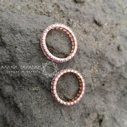 Women's wedding ring with pink stones